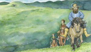 Tom Bombadil y los hobbits dejan las Quebradas de los Túmulos, según Anke Katrin Eißmann