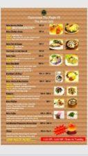 The Shire Cafe - menu