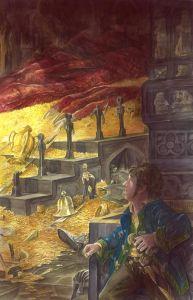 Bilbo y Smaug, según el artista canadiense Abe Papakhian