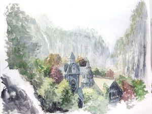 Rivendel, según el artista británico Daniel Parsons