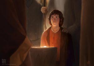 Frodo en el Concilio de Elrond, según Renan Porto
