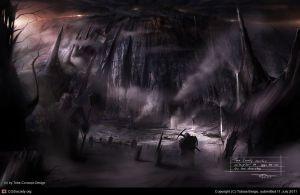 Los enanos llegan a la Montaña Solitaria, según Tobias Berge