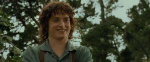 Elijah Wood como Frodo Bolsón