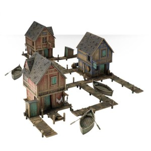 Pack de tres Casas de la Ciudad del Lago de Games Workshop