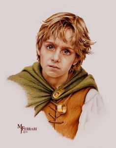 Frodo según Mark Ferrari