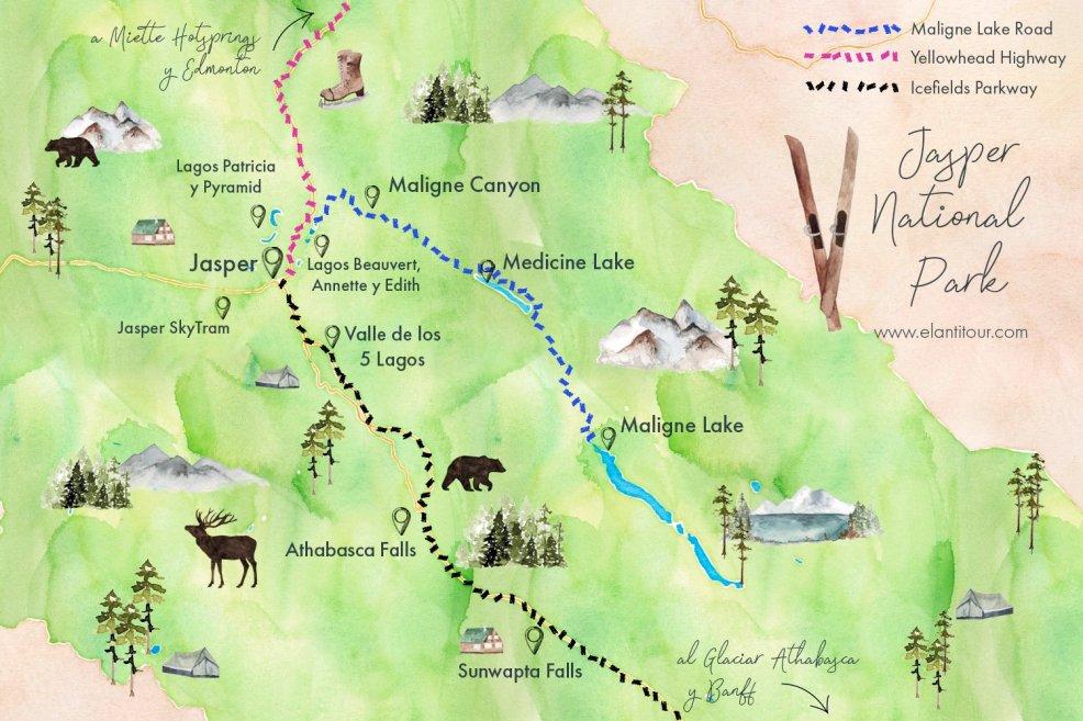 jasper national park el antitour