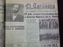 Ésta es la portada del 21 de mayo de 1978, a 99 años del Combate Naval de Iquique (Foto: Hemeroteca M.R.I.)