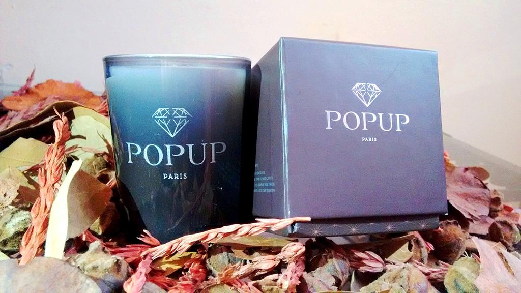 Vela perfumada Popup con sorpresa en el interior de Paris box