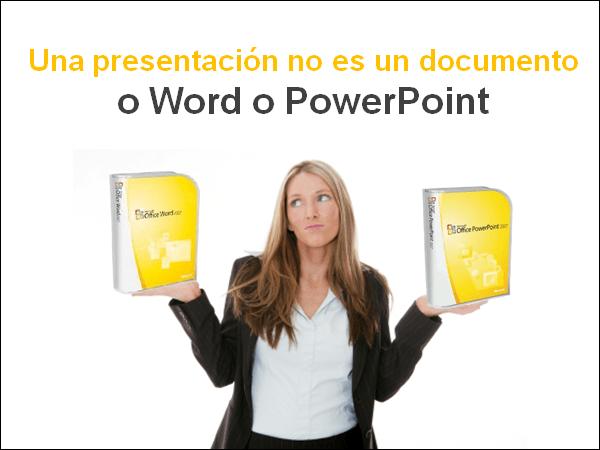 Una presentación no es un documento