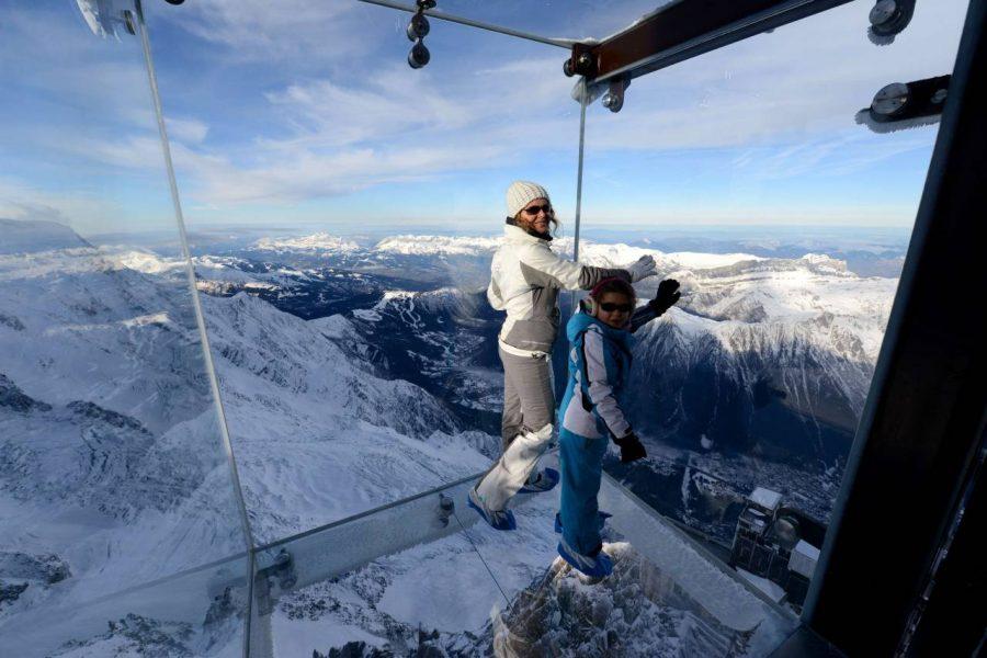Caminata sobre el abismo (Los Alpes)