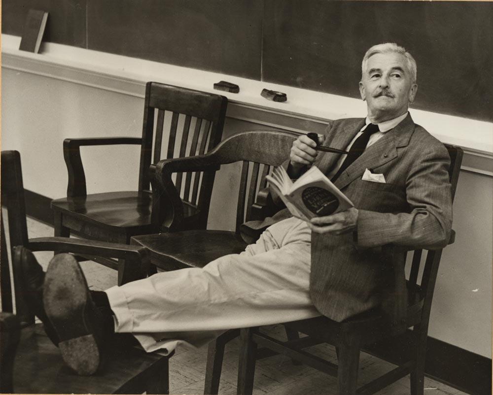 El escritor estadounidense William Faulkner.