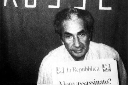 Aldo Moro durante su secuestro en 1978