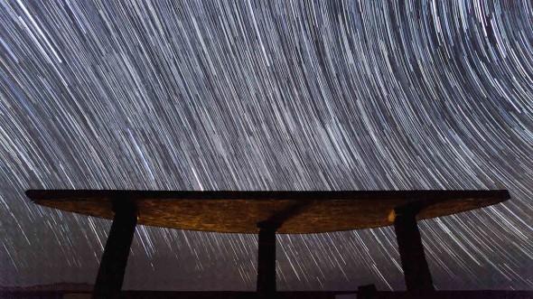 El cielo estrellado de la isla de El Hierro. Foto: Imanol Mujika.
