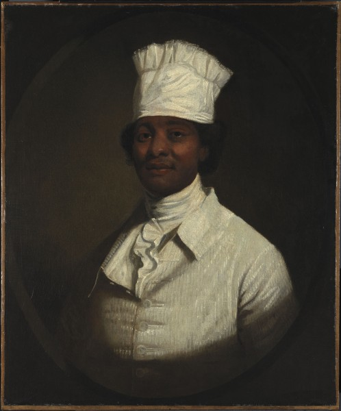 Retrato del cocinero de Georges Washington, de Gilbert Stuart (1795)
