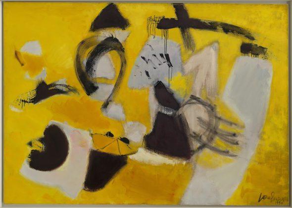José Guerrero, Signs and Portents, 1956, óleo sobre lienzo, 175,9 x 250,2 cm, The Solomon R. Guggenheim Museum, Nueva York.