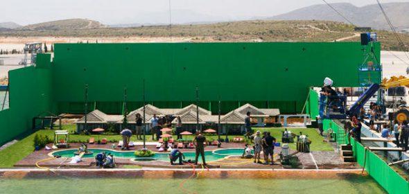 Rodaje de la película 'Lo Imposible' en los estudios La Ciudad de la Luz de Alicante. Foto: Telecinco