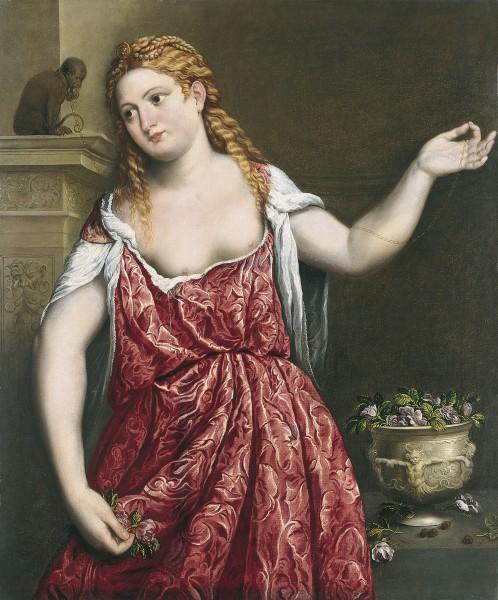 Retrato de una joven, de Paris Bordone (1543-1550). Colección Museo Thyssen.