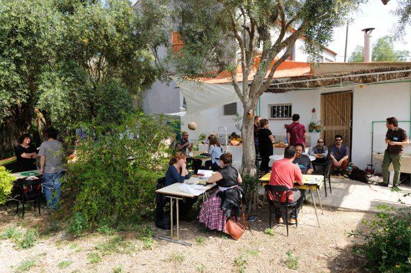 Visionado de portfolios en AliBaba Murcia. Foto: Roberto Villalón.