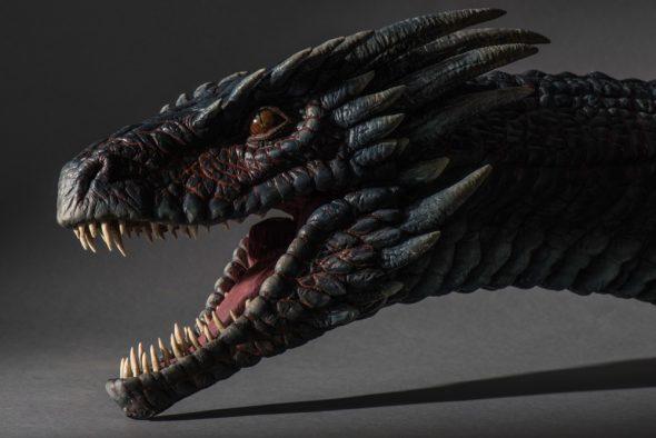 Cabeza de uno de los dragones. Foto cortesía de Canal +.