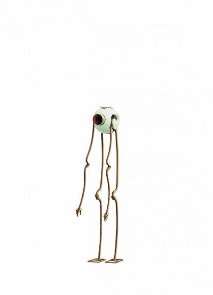 Panamarenko. 'Arlikoop' , 2004. Poliestireno,metal, lentes ópticas, motor eléctrico 49x 13cm Deweer Gallery – Otegem, Belgium.