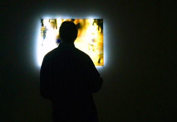 Muestra de Jim Campbell en el Espacio Fundación Telefónica. Foto: Manuel Cuéllar.