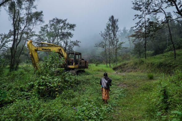 En 2011 las comunidades mayas iniciaron una fuerte oposición al proyecto de instalación de la hidroeléctrica española Ecoener en la zona e impidieron la entrada de las máquinas. © Calamar2/Pedro ARMESTRE