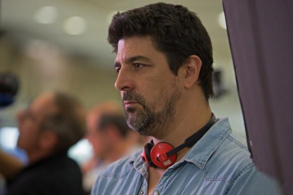 El director Cesc Gay durante el rodaje de 'Truman'.