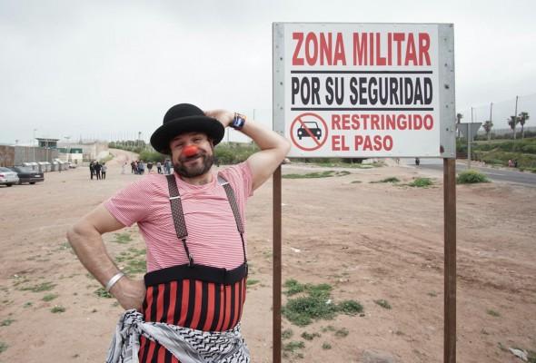 El payaso Iván Pardo.