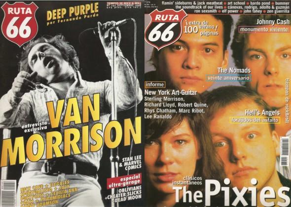 Portadas de Van Morrison y The Pixies.