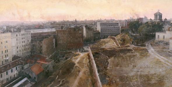 Antonio López. 'Madrid hacia el Observatorio'. Colección Privada.