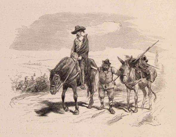 Ilustración de El Quijote.
