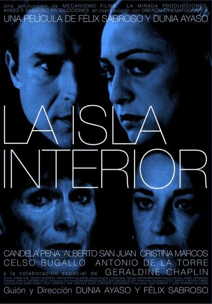 """Una de las ocho versiones del cartel de """"La isla interior"""" (2009), por Juan Gatti."""