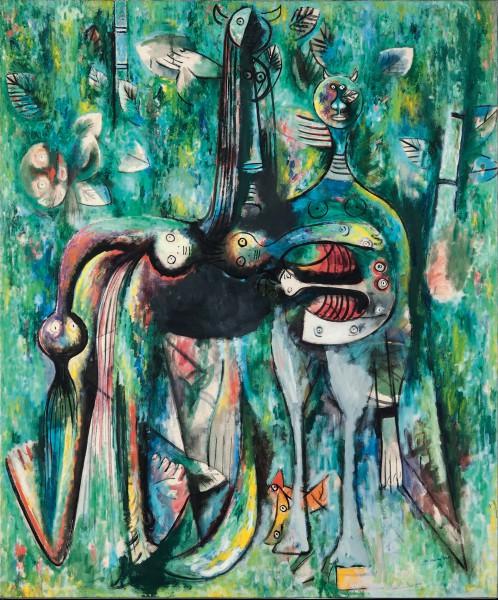 'El sombrío Malembo, dios de la encrucijada', 1943. Wifredo Lam. The Rudman Trust.