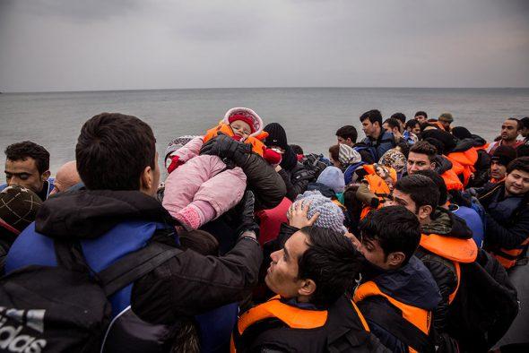 Una imagen del trabajo sobre refugiados de Olmo Calvo.