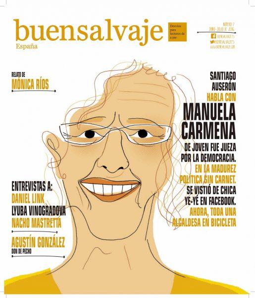 Portada del nuevo número de Buensalvaje en papel en el que se incluye esta entrevista a Manuela Carmena.