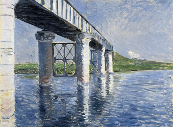 Gustave Caillebotte El Sena y el puente del ferrocarril de Argenteuil, 1885 The Seine and the Railroad Bridge at Argenteuil Óleo sobre lienzo, 115,6 x 154,9 cm Brooklyn Museum, donación de Sackler Foundation