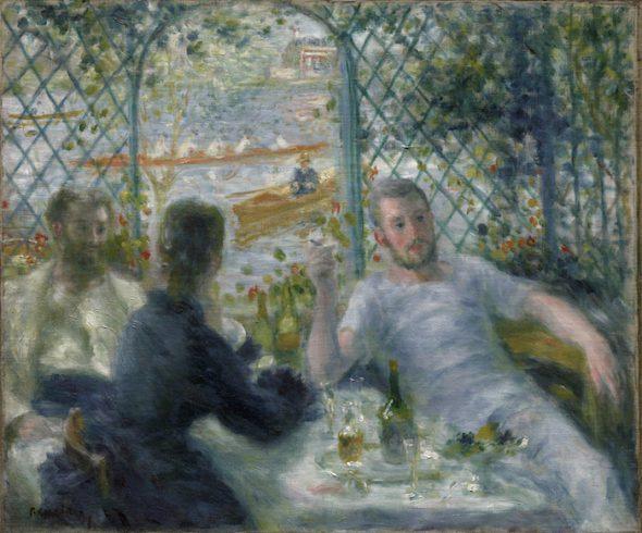 Pierre-Auguste Renoir. Almuerzo en el Restaurant Fournaise (El almuerzo de los remeros), 1875. Chicago, The Art Institute of Chicago. Colección Potter Palmer.