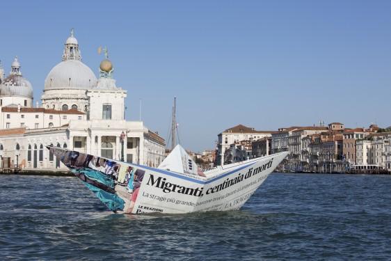 Obra titulada 'Lampedusa' de Vik Muniz.
