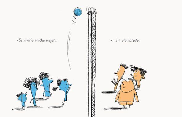 Una ilustración del libro Sin Agua y Sin Pan.