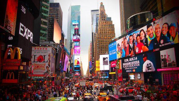 Times Square en Manhattan, Nueva York. Foto: Pixabay.