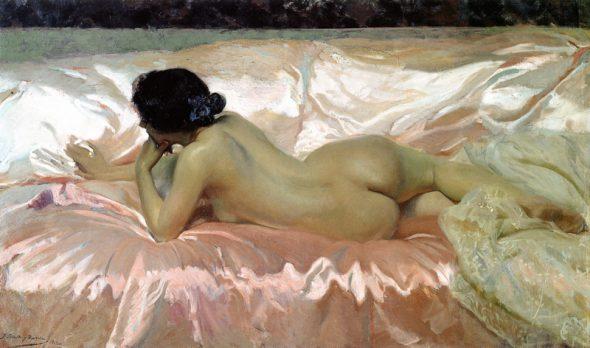 Joaquín Sorolla. Desnudo de mujer..1902. Colección particular.