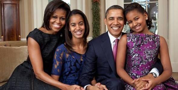 La familia Obama en La Casa Blanca. Foto: Pete Souza.