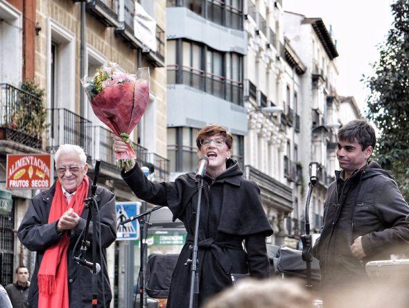 El Padre Ángel, Ruth Toledano y Jorge García Castaño. Foto: Manuel Cuéllar.