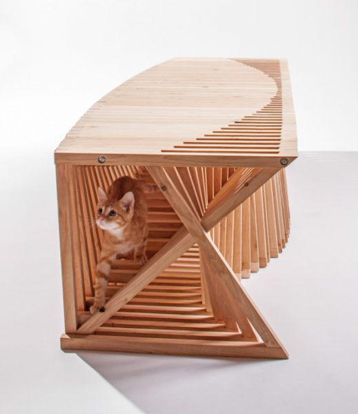 Casa túnel para gatos creada por Formation Association. /Foto: Grey Crawford, Architects for animals