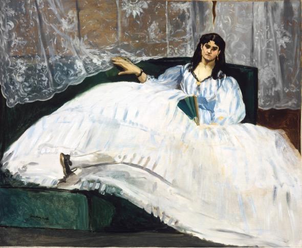 Édouard Manet Dama con un abanico, 1862 (Lady with a Fan) Óleo sobre lienzo. 90 x 113 cm Budapest, Museo de Bellas Artes
