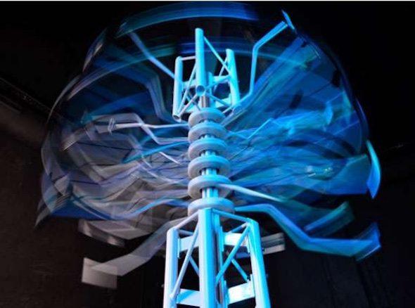 Spam Tower (2012) una de las obras expuestas en La Neomudéjar (Fuente: R. Iglesias)