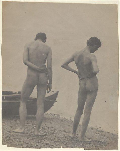 Thomas Eakins y John Laurie Wallace en la playa.
