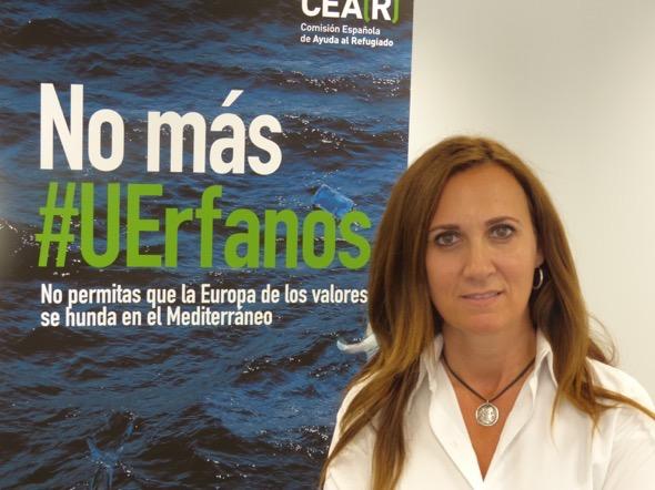 Estrella Galán, Secretaria General de La Comisión Española de Ayuda al Refugiado. Foto: CEAR.