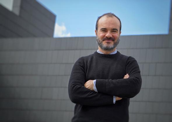El cineasta Oskar Alegría en Pamplona. Foto: M. Cuéllar.