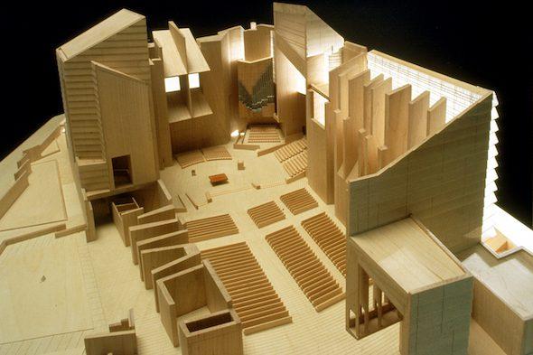 Catedral de Nuestra Señora de Los Ángeles, California, Estados Unidos. 1996-2002. Maqueta en madera. Foto: Rafael Moneo Cortesía de la Fundación Barrié.